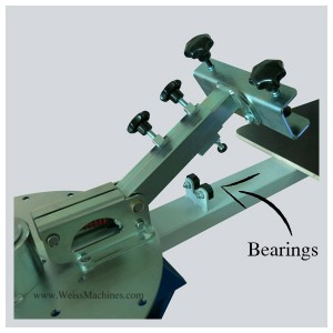 Position of the two bearings