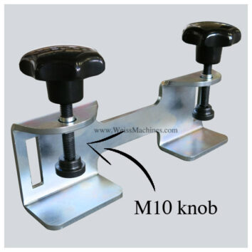 Back clamp with M10 knob - Example