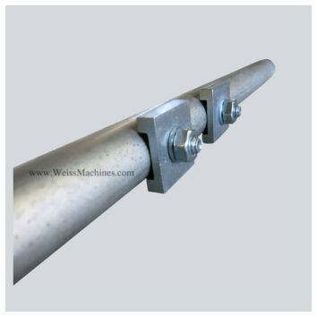 Side clamp tube with fittings – 80mm distance