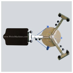 Example of a SMALL 3 colour screen print carousel – Top view