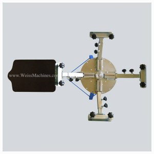 Example of a SMALL 4 colour screen print carousel – Top view