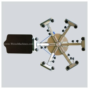 Example of a SMALL 6 colour screen print carousel – Top view
