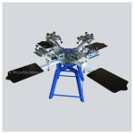 MEDIUM screen print carousel with 4 print stations and 4 print arms