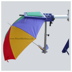 Screen printing umbrella hold down – Ready to be printed