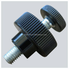 Flathead M8 bolt with counter nut (M8x35)